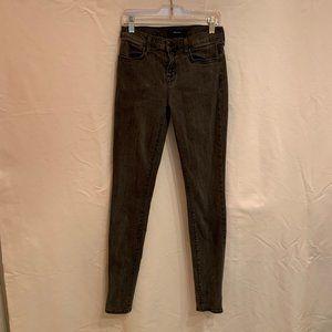 J Brand 620 Mid Rise Super Skinny Night Bird Jeans